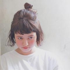 夏 ボブ ヘアアレンジ ショート ヘアスタイルや髪型の写真・画像