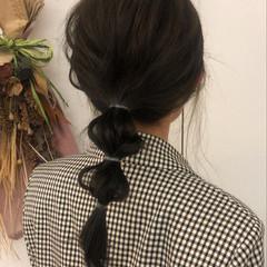 オリーブブラウン オリーブカラー ナチュラル ミディアム ヘアスタイルや髪型の写真・画像