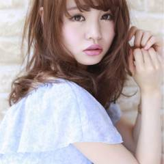 ガーリー フェミニン 大人かわいい ミディアム ヘアスタイルや髪型の写真・画像