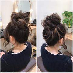ハイライト ロング アップスタイル ルーズ ヘアスタイルや髪型の写真・画像