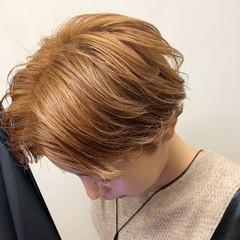 ブリーチカラー モード ブリーチ ヘアカラー ヘアスタイルや髪型の写真・画像