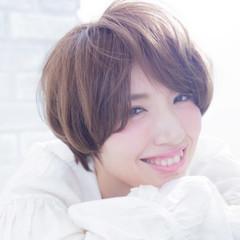 小顔 大人女子 モテ髪 ショート ヘアスタイルや髪型の写真・画像