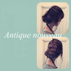 ヘアアレンジ まとめ髪 フェミニン 編み込み ヘアスタイルや髪型の写真・画像