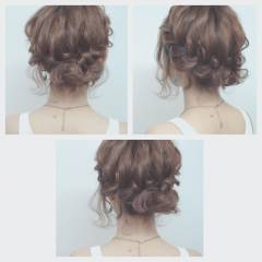ナチュラル 大人かわいい アップスタイル ヘアアレンジ ヘアスタイルや髪型の写真・画像