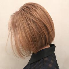 モード リラックス 外国人風カラー ボブ ヘアスタイルや髪型の写真・画像