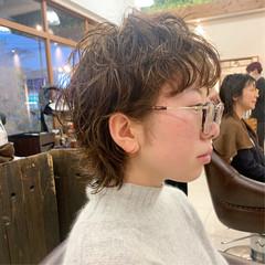 パーマ 無造作パーマ モード ショート ヘアスタイルや髪型の写真・画像