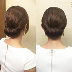 簡単ヘアアレンジ 和装 セミロング ヘアアレンジ ヘアスタイルや髪型の写真・画像