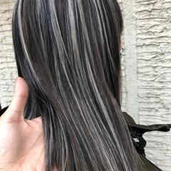 ナチュラル 外国人風カラー 大人ハイライト セミロング ヘアスタイルや髪型の写真・画像