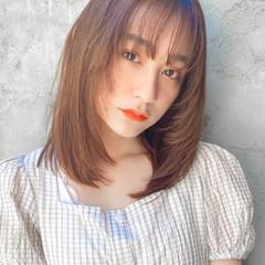 くびれカール 流し前髪 髪質改善トリートメント レイヤーカット ヘアスタイルや髪型の写真・画像