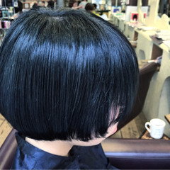 モード ショート ブルージュ ブルー ヘアスタイルや髪型の写真・画像