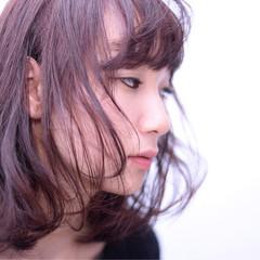 外国人風 ゆるふわ フェミニン ミディアム ヘアスタイルや髪型の写真・画像