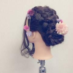 フェミニン 花火大会 ショート 夏 ヘアスタイルや髪型の写真・画像