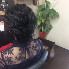 簡単ヘアアレンジ エレガント ヘアアレンジ ミディアム ヘアスタイルや髪型の写真・画像