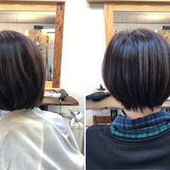 髪質改善 小顔ヘア 美髪 ショート ヘアスタイルや髪型の写真・画像