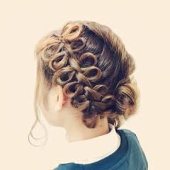 モテ髪 まとめ髪 コンサバ 愛され ヘアスタイルや髪型の写真・画像