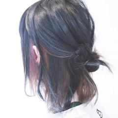アッシュ ダブルカラー ボブ グラデーションカラー ヘアスタイルや髪型の写真・画像