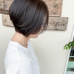 ショートヘア マッシュ ショート ナチュラル ヘアスタイルや髪型の写真・画像