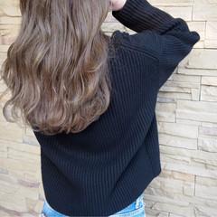 外国人風 フェミニン アッシュ ゆるふわ ヘアスタイルや髪型の写真・画像