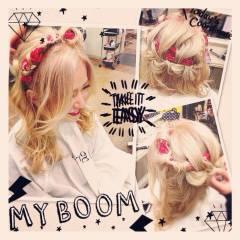 編み込み 渋谷系 ヘアアレンジ アップスタイル ヘアスタイルや髪型の写真・画像