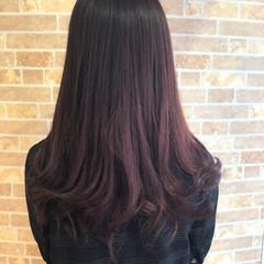 透明感 ガーリー ピンク ラベンダーピンク ヘアスタイルや髪型の写真・画像