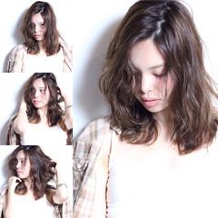 ウェーブ モード ナチュラル 無造作 ヘアスタイルや髪型の写真・画像