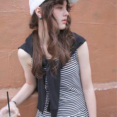 ストリート 簡単ヘアアレンジ ロング 外国人風 ヘアスタイルや髪型の写真・画像