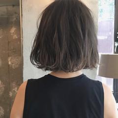 透明感 ボブ オフィス 秋 ヘアスタイルや髪型の写真・画像