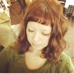 大人かわいい ミディアム ガーリー ヘアスタイルや髪型の写真・画像