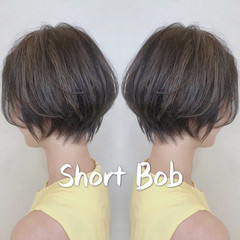 ハンサムショート デート 小顔ショート ナチュラル ヘアスタイルや髪型の写真・画像