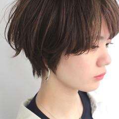 ショート ショートバング 小顔ショート ショートヘア ヘアスタイルや髪型の写真・画像