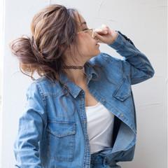 お団子 ロング ゆるふわ メッシーバン ヘアスタイルや髪型の写真・画像