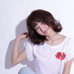 モード パーマ ウェットヘア ストリート ヘアスタイルや髪型の写真・画像
