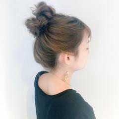 ルーズ 簡単ヘアアレンジ ヘアアレンジ デート ヘアスタイルや髪型の写真・画像