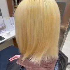 デザインカラー ナチュラル ハイトーンカラー ボブ ヘアスタイルや髪型の写真・画像