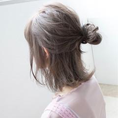 簡単ヘアアレンジ ゆるふわ ヘアアレンジ ナチュラル ヘアスタイルや髪型の写真・画像