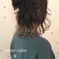 ストリート ゆるふわ インナーカラー ヘアアレンジ ヘアスタイルや髪型の写真・画像