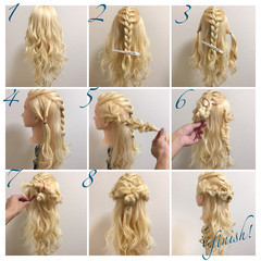 ゆるふわ 二次会 簡単ヘアアレンジ ロング ヘアスタイルや髪型の写真・画像