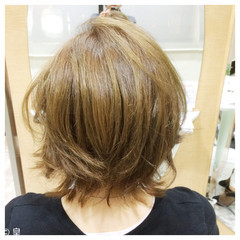 ゆるふわ エアリー ボブ 夏 ヘアスタイルや髪型の写真・画像