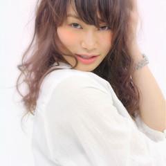 フェミニン 大人かわいい パーマ グラデーションカラー ヘアスタイルや髪型の写真・画像