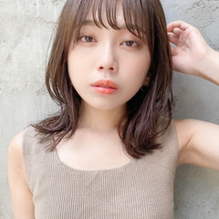 縮毛矯正ストカール ナチュラル 韓国ヘア 外ハネ ヘアスタイルや髪型の写真・画像
