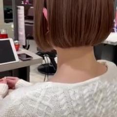 ナチュラル 切りっぱなしボブ ミニボブ 髪質改善 ヘアスタイルや髪型の写真・画像