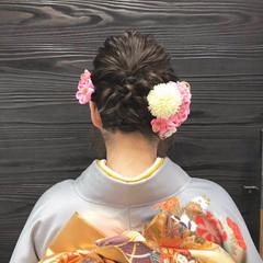 成人式 波ウェーブ ヘアセット ヘアアレンジ ヘアスタイルや髪型の写真・画像