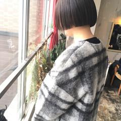 韓国風ヘアー グレージュ ボブ ヘアカラー ヘアスタイルや髪型の写真・画像