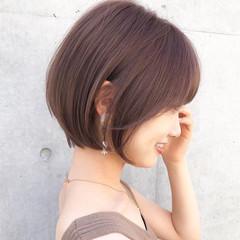 ショート 前下がり デジタルパーマ 前髪 ヘアスタイルや髪型の写真・画像