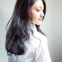 黒髪 セミロング 暗髪 コンサバ ヘアスタイルや髪型の写真・画像