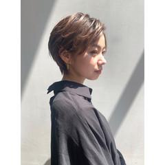 ショート モード ハンサムショート ショートヘア ヘアスタイルや髪型の写真・画像