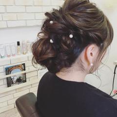 ゆるふわ ロング 結婚式 ナチュラル ヘアスタイルや髪型の写真・画像
