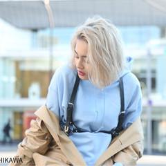外国人風カラー 前髪あり 金髪 ストリート ヘアスタイルや髪型の写真・画像