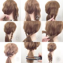 ヘアアレンジ ショート セミロング セルフヘアアレンジ ヘアスタイルや髪型の写真・画像