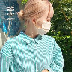 オフィス ミディアム ベージュ 透明感 ヘアスタイルや髪型の写真・画像